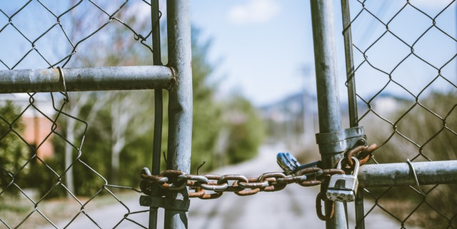 Hek gesloten met ketting | Mijn Keus