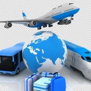 Vliegtuig trein bus koffers | Mijn Keus