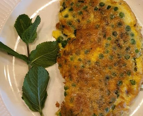 Omelet met doperwten en munt | Mijn Keus